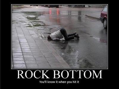 Rock bottom definition